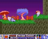 Quik the Thunder Rabbit Amiga Quik is knocked over