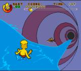 Virtual Bart Genesis Riding waves in the Water Slide stage.