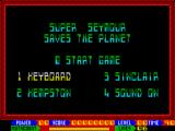 Super Seymour Saves the Planet ZX Spectrum Main menu