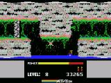 H.E.R.O. MSX Sinking into the water below...
