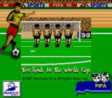 FIFA: Road to World Cup 98 Game Boy Title Screen