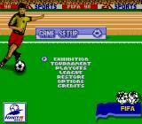 FIFA 98: Road to World Cup Game Boy Main Menu