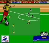FIFA 98: Road to World Cup Game Boy The opening kick-off.