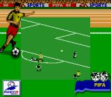 FIFA 98: Road to World Cup Game Boy Avoiding a tackle...