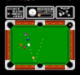 Side Pocket NES The dotted line indicates the path of the cue ball when hit.