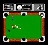 Side Pocket NES Get a ball in the pocket with a star for a chance at the trick shot bonus.