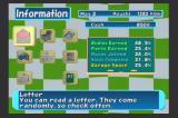ChoroQ PlayStation 2 In game information screen where you can quickly access your race calender (see what's going on in that month), check your stats, read the paper, kill time, and read the mail that you've been getting