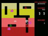 Dig Dug MSX Gameplay on the first level