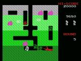 Dig Dug MSX Trying to crush an enemy with a rock