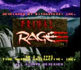 Primal Rage SNES Title screen.