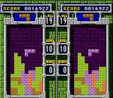Tetris & Dr. Mario SNES Mixed Match game 1: clearing a predetermined number of lines in Tetris B-TYPE.