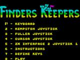 Finders Keepers ZX Spectrum Control options