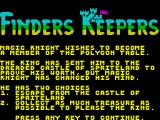 Finders Keepers ZX Spectrum Instructions part 1