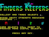 Finders Keepers ZX Spectrum Instructions part 2
