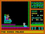 Finders Keepers ZX Spectrum The King teleoprts you away
