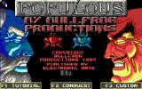 Populous DOS Title screen