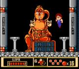 Jackie Chan's Action Kung Fu NES Beat the stone out of the big statue-boss