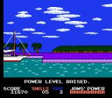 Jaws NES Pull back into port to raise your power level when you are experienced enough