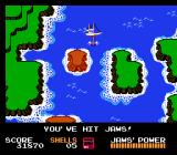 Jaws NES Why, there's the game's eponymous shark now!