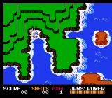 Jaws NES Getting ready to sail on the overhead island map