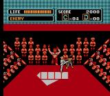 The Karate Kid NES The karate tournament at the opening of the game