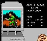 Code Name: Viper NES Reporting back to the commander at the end of level 1.