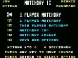 Match Day II MSX The main menu