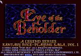 Eye of the Beholder SEGA CD Title screen
