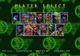 Eternal Champions: Challenge from the Dark Side SEGA CD Character selection screen