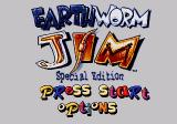 Earthworm Jim: Special Edition SEGA CD Title screen with main menu