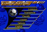 FIFA International Soccer SEGA CD Main menu