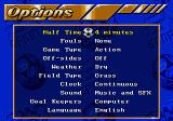 FIFA International Soccer SEGA CD Options menu