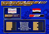 FIFA International Soccer SEGA CD Team selection screen