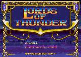 Lords of Thunder SEGA CD Main menu