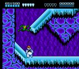 Battletoads NES The Arctic Caverns, level 4, comprise the obligatory platformer ice level, but done exceptionally well-- this is a malicious snowman