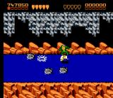 Battletoads NES Much of Surf City, level 5, is on a surf board down a river-- dodge the whirlpools and mines