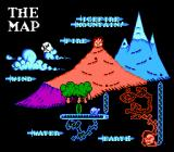 IronSword: Wizards & Warriors II NES The customary master map representation of your journey.
