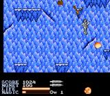 IronSword: Wizards & Warriors II NES Start out on the mountainside on your way up to the cloud land.
