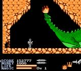 IronSword: Wizards & Warriors II NES The Dragon King living in the heart of the volcano.