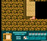 Digger T. Rock: Legend of the Lost City NES Burrowing through the soft brown earth