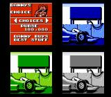 Danny Sullivan's Indy Heat NES Choose the gear you want for your car.