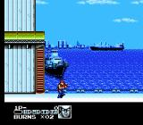 Contra Force NES Starting out at the harbor with Burns; exquisite graphics detail