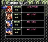 Contra Force NES The pause/status screen
