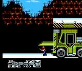 Contra Force NES Uh-oh, a forklift on auto-pilot