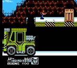 Contra Force NES Amazingly, you do not destroy the forklift but rather use it as a stepping stone