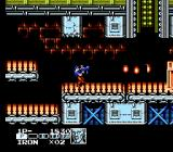 Contra Force NES This is the character named Iron on the conveyor belt