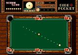Side Pocket Genesis Playing in 1-Player mode, you can recover some extra balls completing a Trick Game successfully.