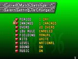 Brian Lara Cricket '96 Genesis Match settings screen