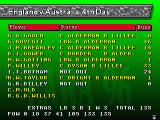 Brian Lara Cricket '96 Genesis Player statistics screen