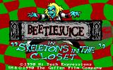 Adventures of Beetlejuice: Skeletons in the Closet DOS Title screen